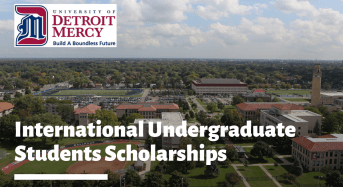 International Undergraduate Students Scholarships at University of Detroit Mercy, USA