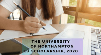 The University of Northampton EU Scholarship, 2020