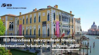 IED Barcelona Undergraduate Studies international awards in Spain, 2020