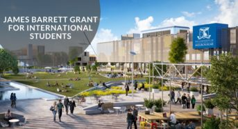 James Barrett Grant for International Students at University of Melbourne in Australia, 2020
