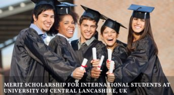 Merit funding for International Students at University of Central Lancashire, UK