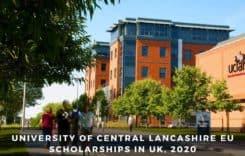 University of Central Lancashire EU Scholarships in UK, 2020