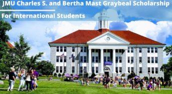 JMU Charles S. and Bertha Mast Graybeal funding for International Students, USA