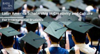 Latin America Scholarship in Creativity and Culture at Bath Spa University, UK